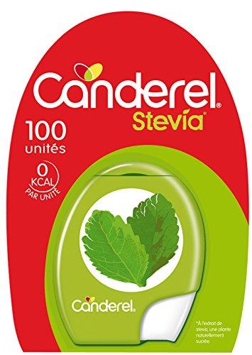 CANDEREL - Stévia – Edulcorant Naturel - le Gout du Sucre Sans Calorie - 100 Comprimés – Format Pratique - Lot de 4