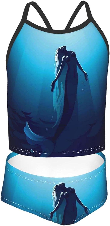 Girls' Tankini Swimsuit Sets Super-cheap Light Fluorescence Splatte Blue Ink Max 82% OFF