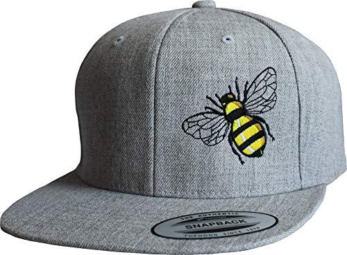 Cap: Biene - Flexfit Snapback - Urban Streetwear - Männer Mann Frau-en - Baseball-cap - Hip-Hop Rap - Mütze - Kappe - Bee - Basecap - Insekten - Wespe - Vintage Retro (One Size)