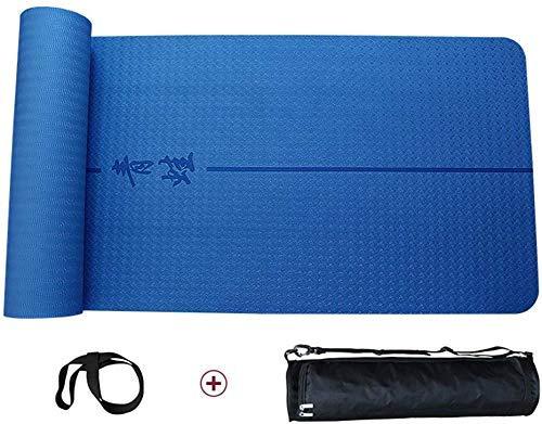 ZGQA-GQA Esterilla de yoga, espesar suave y cómodo Mat Fitness Protección Ambiental Multifunción Esterilla Yoga