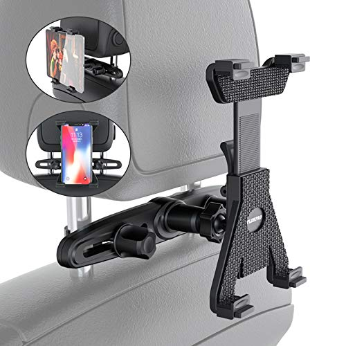 Tablet Holder Car Headrest Mount,PLDHPRO Universal Backseat Seat for iPad Samsung Galaxy Nintendo Switch Fits All 6'' - 10.5'' Tablets (Black)