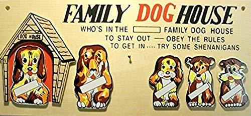 Family Dog House Plaque