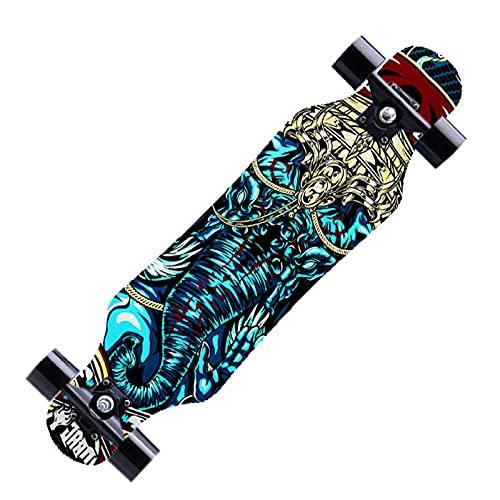 REWE Skateboard Cruiser para Principiantes,Camión CX4, 7 Capas de Tablero de Arce,Monopatín de Madera de Arce Niñas Niños Adolescentes Adultos patineta Tabla de Surf de Skate