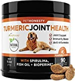 PetHonesty Turmeric Curcumin for Dogs - Arthritis Hip & Joint Supplement Soft Chews with Turmeric, BioPerine, Fish Oil & Coconut for Joint Pain Inflammation Relief - Digestive & Immune Health