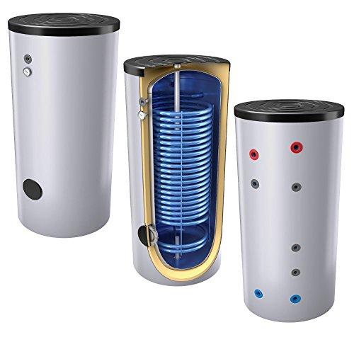 300 Liter emaillierter Hochleistungs-, Warmwasserspeicher/Trinkwasserspeicher/Wärmepumpenspeicher, Energieffiziensklasse B, mit 1 Wärmetauscher, inkl. Isolierung, Magnesiumanoden u. Thermometer