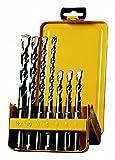 Dewalt DEWDT9701QZ Juego de Brocas de percusión SDS-Plus Extreme 2 DT9701-QZ, 7 Piezas, en Casete metálica, Set