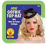 Rubies Haunted House - Mini sombrero gótico con calavera 48921)