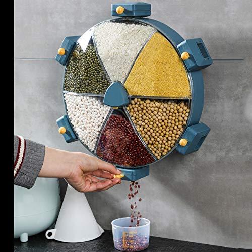 QNMM Dispensador de Alimentos Secos Montado En La Pared - Dispensador de Cereales de Alta Capacidad de 8,5 L, para Un Almacenamiento Conveniente de Cereales, Frijoles Y Nueces de Arroz