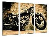 Cuadro Fotográfico Moto Vintage Negra, Harley Davidson Tamaño total: 97 x 62 cm XXL