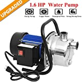 Hurbo 1.6HP Portable Stainless Steel Lawn Sprinkling Pump Water Pump...