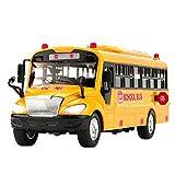 TOOGOO Automobile di Inerzia del Modello del Giocattolo dello Scuolabus dei Bambini di Grande Dimensione con la Luce del Suono per Il Regalo di Compleanno del Giocattolo dei Bambini