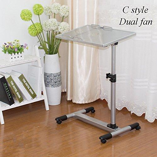YNN Table Table Lazy avec Ventilateur en Acier, Bureau, Ordinateur de Chevet, Ascenseur, 2 Tailles 10 Couleurs (Couleur : 8)
