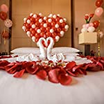 rose petals 3000pcs, bestore artificial flower petals confetti flower for wedding, romantic night valentine's day hotel home party decoration dark red