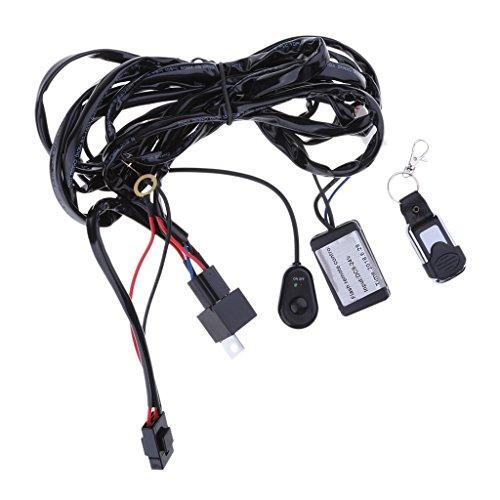 Toygogo 325cm Coches Luces de Trabajo Automático Kit de Arnés de Barra LED para Luces de Coches de 12 V-24 V Control Remoto Estroboscópico de 2 Cables Nuevo