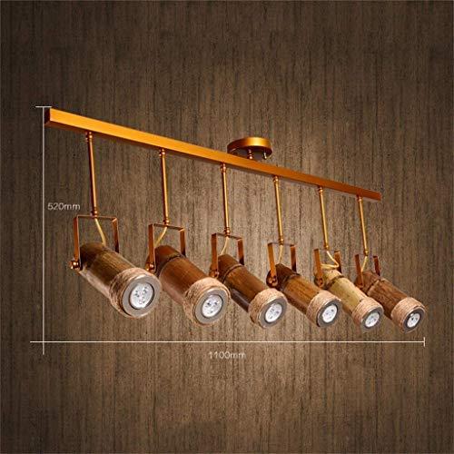 Kroonluchters Hanglamp Plafond Lights Kroonluchter Dorp Creatieve Amerikaanse Oude Paarden Bamboos Café Rassen Nostalgische Restaurant Bamboos Kroonluchter