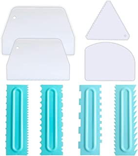 Cake Scraper Set, 8 Pcs Cake Combs and Icing Smoother for Cake Decoration Baking Tools