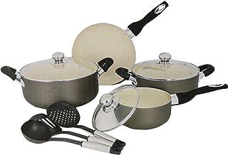 Sweet Home 10 Pcs Ceramic Cookware Set