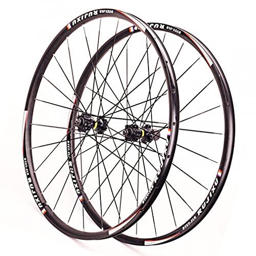MZPWJD Ruedas 26/27.5/29 Pulgadas Bicicleta Montaña Ruedas Juego 1590g Doble Pared De Llanta 24H Rueda MTB Carbono Buje Eje Pasante Freno Disco 7-11 Velocidad (Color : Black, Size : 29 in)