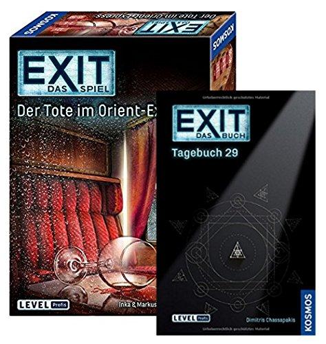 EXIT Kosmos 694029 - Juego de mesa (29 - 144 páginas, texto en alemán 'Tote im Orient-Express' y 'Escape Room')