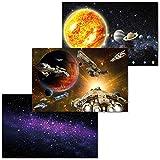 GREAT ART 3er Set XXL Poster Kinder Motive – Galaxy