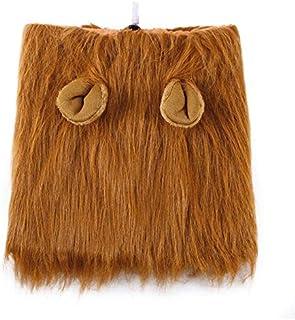 QiKun-Home Animal Pet Costume Lion Wigs Mane Hair Scarf Party Fancy Dress Kläder Hunddräkt Festival Party Fancy Dress For ...