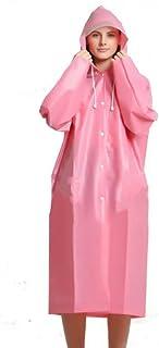 ZXQZ レインコートアダルトアウトドアハイキングレインコート半透明防水ポンチョレインコートアウトドアメンズレディースロングセクション ポンチョ (色 : ピンク ぴんく, サイズ さいず : L l)