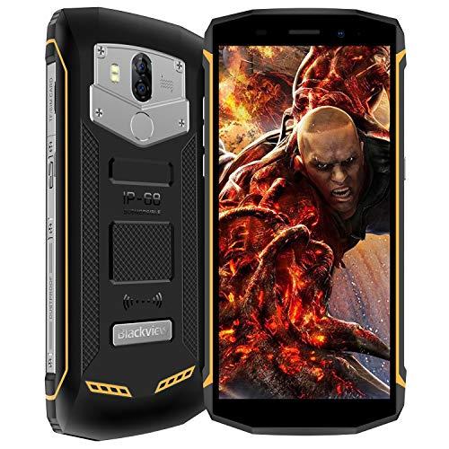 Blackview BV5800 Movil Todoterreno Smartphone Impermeable IP68 Dual SIM 5580mAh Batería 4G Teléfono móvil Antigolpes Android 8.1 8MP + 13MP Cámaras 5.5 Pulgadas 5V/2A Rápida Carga 2GB RAM 16GB ROM