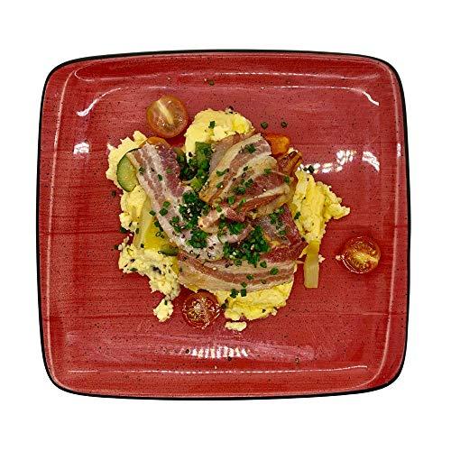 Season Family Fertiggericht Rührei mit Grillgemüse und Bacon als Fitness Essen I Fertiggerichte für Mikrowelle oder Pfanne unter Schutzgasatmosphäre verpackt I Inhalt 450 g