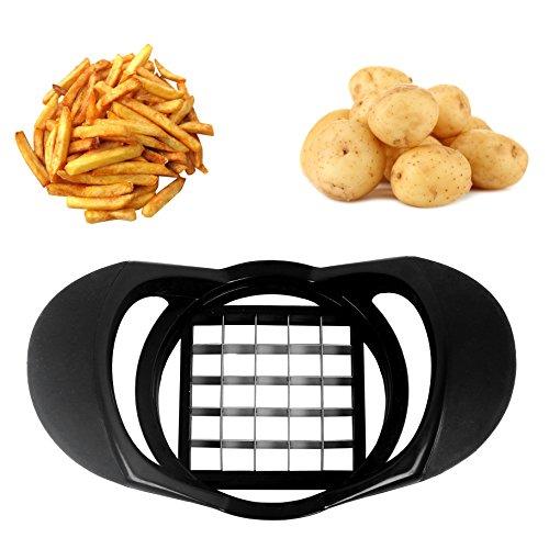 Febbya Gemüseschneider,Pommes-Frites Schneider Edelstahl Gemüseschneider für Kartoffeln und Obst leicht zu reinigen Geeignet für Geschirrspülmaschinen