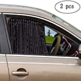 ZATOOTO Car Privacy Window Sun Shade - Auto Vehicles Foldable Side Interior Cover Sunshades Curtain Prevent Glare and UV Rays Protection for Your Baby Suitable for SUV Truck Automotive 2-Pack