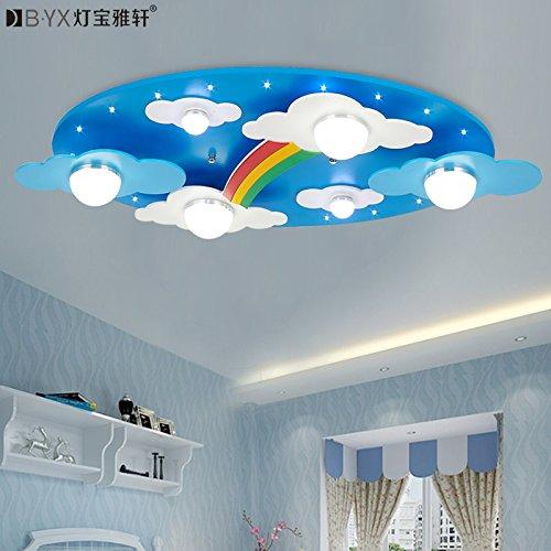 TYDXSD Accogliente camere bambini arcobaleno nuvole illuminazione Lampada da soffitto a luce LED per ragazzi e ragazze camera da letto lampada del fumetto 730 * 400 * 120 mm