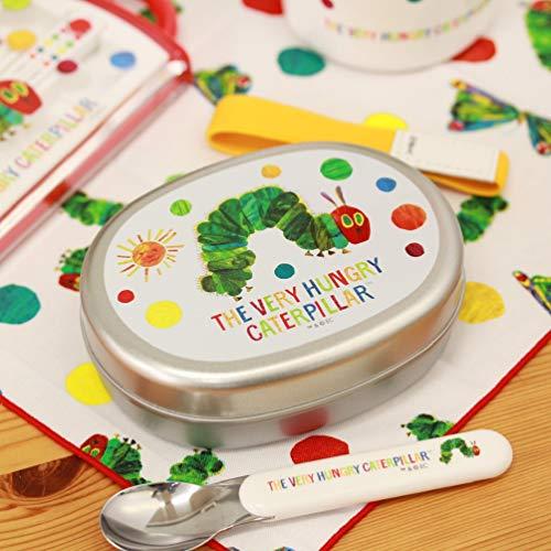 お子さんが大好きな絵本「はらぺこあおむし」のアルミお弁当箱。おしゃれでカラフルな絵柄で、ランチタイムが楽しくなりそう。