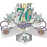 Happy 70th Birthday-Grußkarte Original Second Nature 3D Pop up Karten