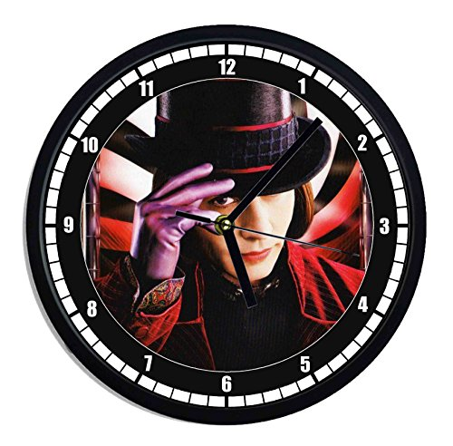 Reloj de pared de plástico la fábrica de chocolate–Johnny Depp