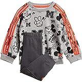 adidas Inf Dy Mm Jog Chándal, Unisex bebé, Top:Medium Grey Heather/Semi Solar Red/White Bottom:Grey Six s19, 6-9M