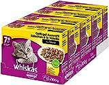 Whiskas 7 + Katzenfutter – Hochwertiges Nassfutter für Katzen ab 7 Jahren und älter – Für die Bewahrung der Vitalität – Portionsbeutel...