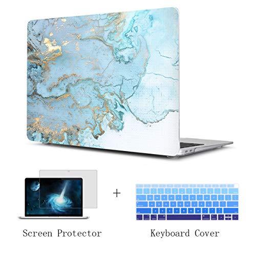 TwoL Ultra Slim Hard Shell Funda para teclado Funda y protección de pantalla para el nuevo MacBook Pro 15 pulgadas 2016 2017 2018 Modelo A1707/A1990 Tierra