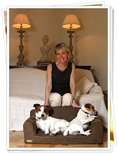 Designer – Pet Sofa, Dog Bed, Chocolate Faux Suede,(Medium 96cm x 46cm x 34cm, Brown)