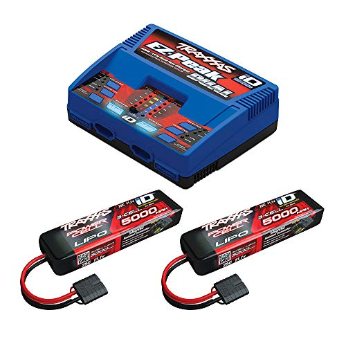 Traxxas 2990 Completer Pack, 2872X Battery (2) & 2972 Dual Charger (1)