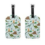 <span class='highlight'><span class='highlight'>COOSUN</span></span> Dinosaur Scene Luggage Tags Travel Labels Tag Name Card Holder for Baggage Suitcase Bag Backpacks, 2 PCS