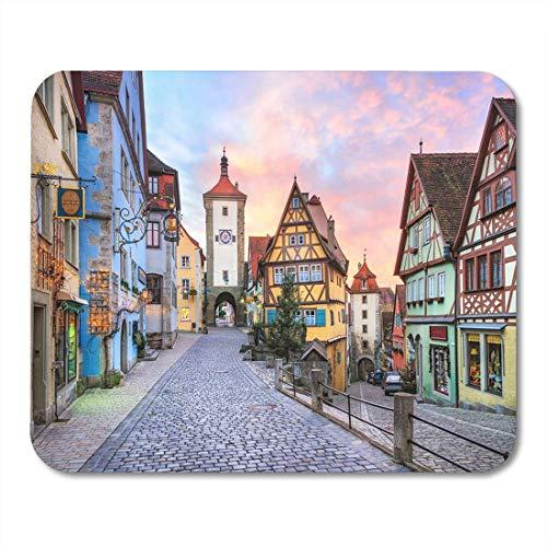 Rothenburg Of de Tauber Schilderij middeleeuwse stad in Duitsland Muismat Mouse Pad Computer Pad