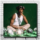 Bxygml RIC Wilson Terrace Martin - They Call Me Disco Cover Póster con impresión de Arte Personalizado LW Cavans para Carteles de habitación -60x60cm Sin Marco