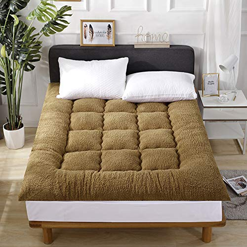 Find Bargain ZDiane Traditional Japanese Floor Futon Mattresses, Queen Size, Portable Camping Wool W...