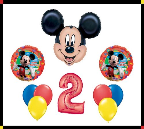 Anagram Disney Mickey Mouse Clubhouse 2 Happy Birthday Balloon Set Party Decoration by AMZKIT743