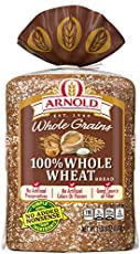 Arnold Whole Grains 100% Whole Wheat Bread, Baked with Simple Ingredients & Whole Grains, 24 oz