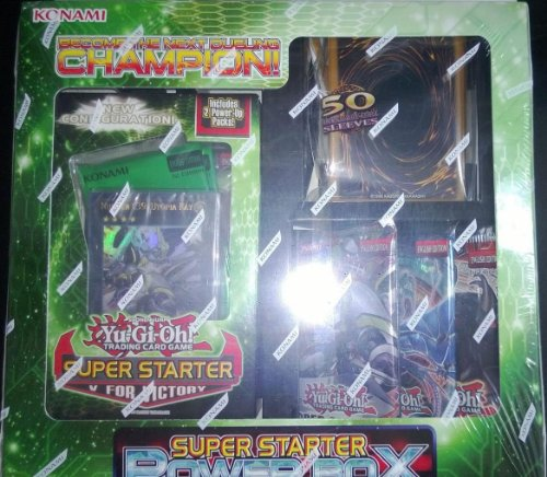 Yugioh Starter Deck V For Victory Power Box Bundle Lot W/ Sleeves & Booster (Order of Chaos Generation Force Hidden Arsenal 5) by Yu-Gi-Oh!