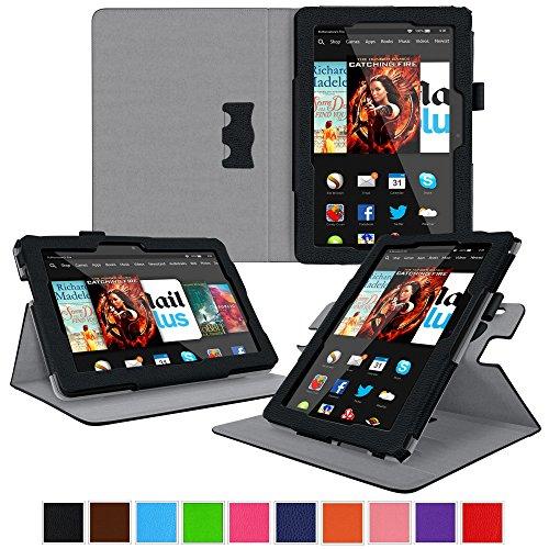rooCASE Kindle Fire HDX 8.9 Tablet (2014) Case, new Kindle Fire HDX 8.9 Dual View Folio Case Cover, Black