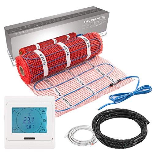 VILSTEIN© Elektrische Fußbodenheizung (6m² - 12m lang / 0,5m breit)...