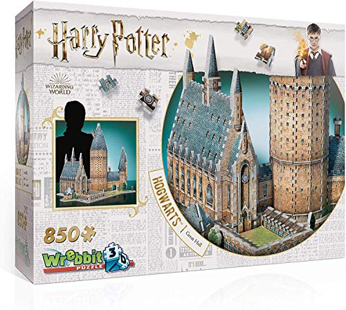 Wrebbit 3D HARRY POTTER Puzzle 3D Diorama CASTELLO DI HOGWARTS Great Hall SALA GRANDE 850 Pezzi