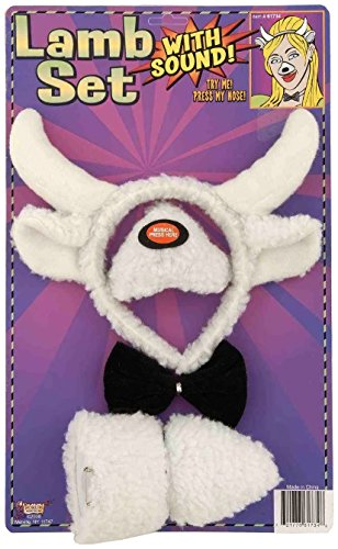 Forum Novelties Animal Costume Set Lamb Nose Tail with Sound Effects